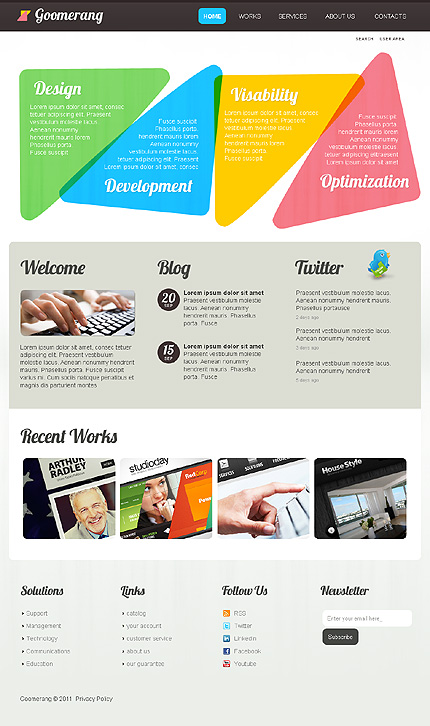 Website Template #Website design #33395
