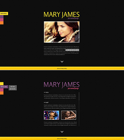 Website Template #Website design #40501