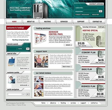 Website Template #Website design #4142