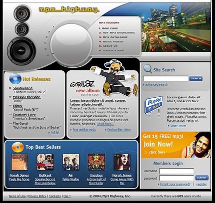 Website Template #Website design #4519