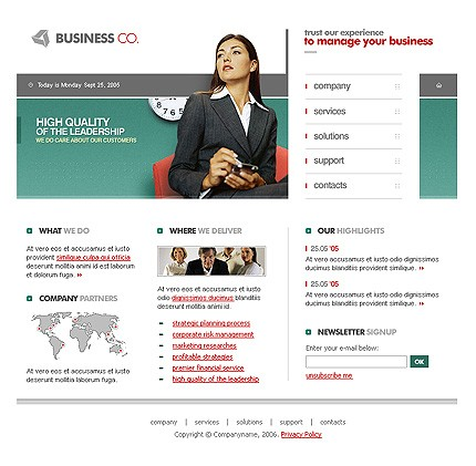 Website Template #Website design #9993